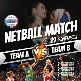 NETBALL EVENT AD VIDEO TEMPLATE Square (1:1)