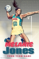 Netball Player Profile Poster Template