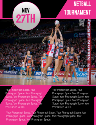 NETBALL TOURNAMENT FLYER TEMPLATE