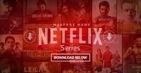 Netflix Movie Series Download Template Facebook 共享图片