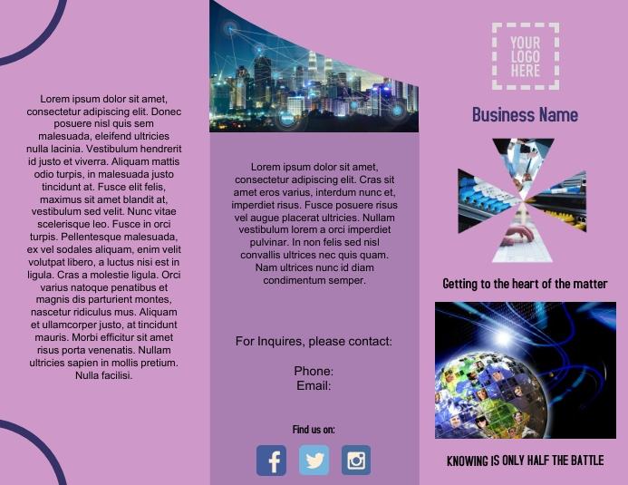 Networking Brochure Outside Flyer (US Letter) template
