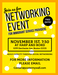 Networking Event Poster Template