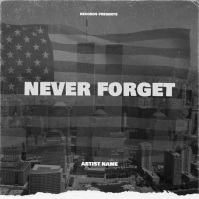 Never Forget Cover Video Design Template 专辑封面