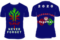Never FORGET Tshirt Design Plakkaat template