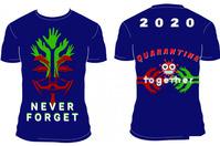 Never FORGET Tshirt Design Plakkaat template