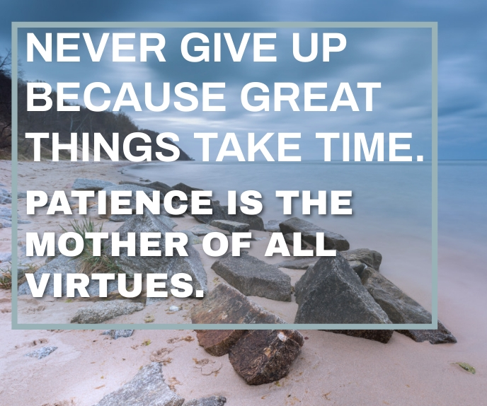 NEVER GIVE UP QUOTE TEMPLATE Grote rechthoek
