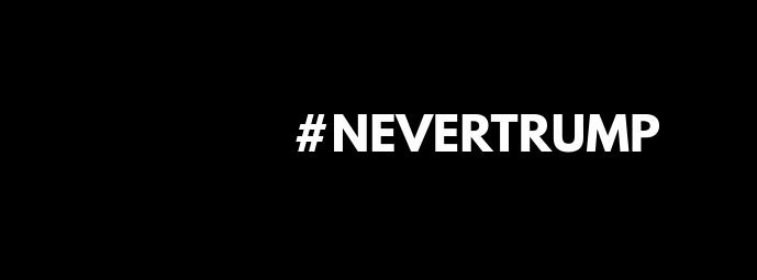 #NEVERTRUMP - Facebook Cover