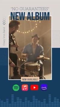 New Album Announcement Instagram Story Video template