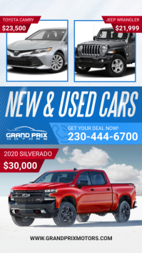 New and used cars Instagram Story template