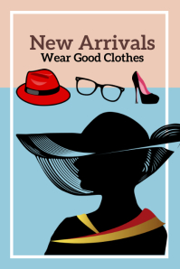 New Arrival of Fashion Clothes Template Poster