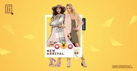 New Arrival Sale Facebook Shared Image template