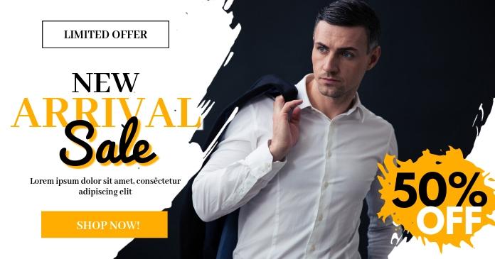 New Arrival Sale Social Media Template delt Facebook-billede