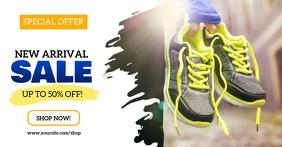 New Arrival Shoes Sale Imagen Compartida en Facebook template