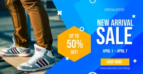 New Arrival Shoes Sale Facebook Shared Image template
