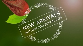New Arrivals Autumn fashion display Affichage numérique (16:9) template