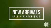New Arrivals Fall / Autumn fashion template Ekran reklamowy (16:9)