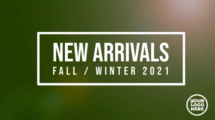New Arrivals Fall / Autumn fashion template Digitale display (16:9)