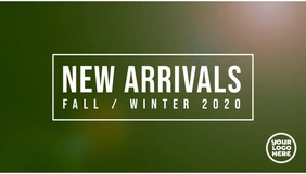 New Arrivals Fall / Autumn fashion template Koptekst blog