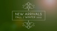 New Arrivals Fall / Winter fashion display Tampilan Digital (16:9) template