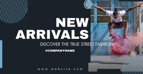 new arrivals fashion advertisement design tem โฆษณา Facebook template