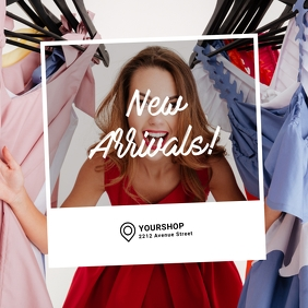 New Arrivals Fashion instagram ad template