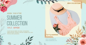 New Arrivals Summer Collection Facebook Shop template