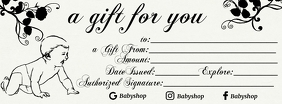 New Baby Gift Card Greeting Template Facebook Cover Photo