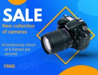 New Camera Product Reveal Slideshow Ad Flyer (US Letter) template