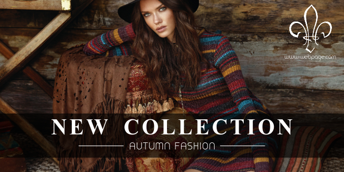 new collection autumn fall twitter post retail template