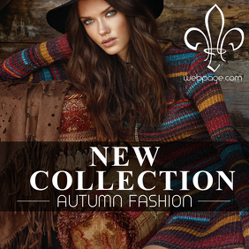New Collection retail instagram post template autumn