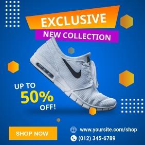New Collection Shoes Sale Social Media Templa Instagram 帖子 template