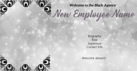 New Employee Welcome Facebook Gedeelde Prent template