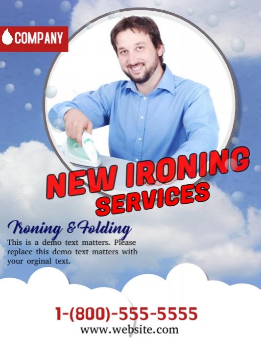 ironing service flyer template - modello nuova servizio di stiratura postermywall