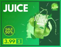 New Juice Food Item Slideshow Ad Flyer (US Letter) template