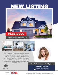 New Listing Real Estate Flyer template