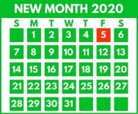 New Month Calendar Printable Template Средний прямоугольник