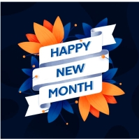 New Month flyer Logotyp template