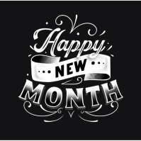New Month flyer Logo template