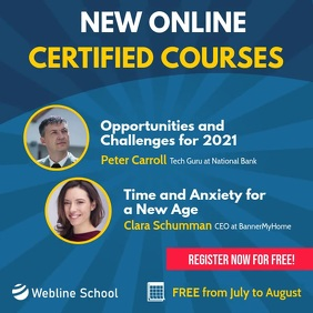 New Online Courses Square Instagram Video