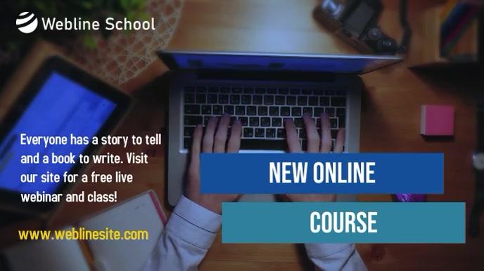 New Online Webinar Course video Présentation (16:9) template