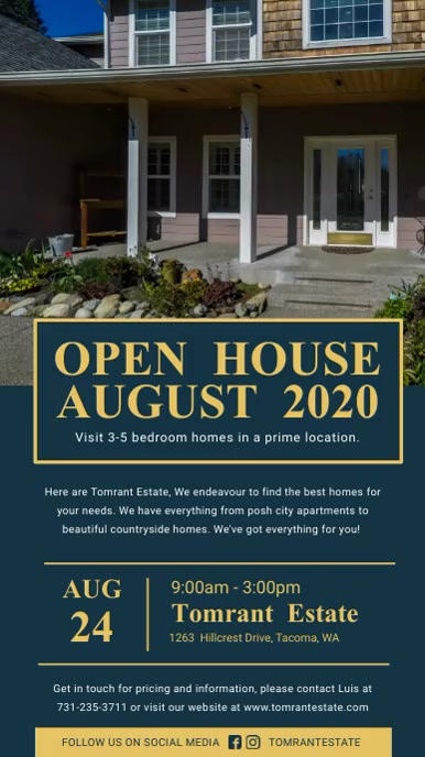 New Open House Realtor Signage