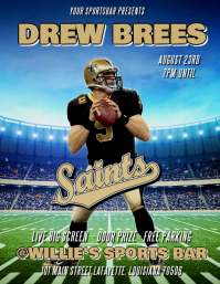 NEW ORLEANS SAINTS DREW BREES FLYER