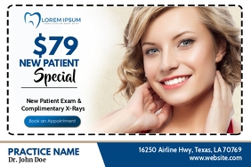 New Patient Special Etiket template
