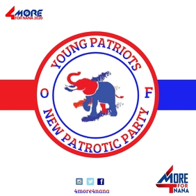 New patriotic party logo template