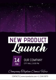 New Product Launch A4 template