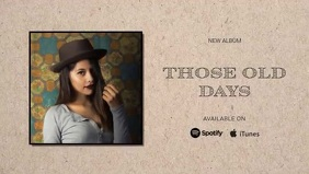 new retro country album release design Facebook Cover Video (16:9) template