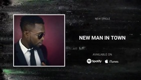 new single album release video banner Facebook-omslagvideo (16: 9) template