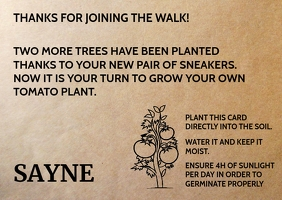 New Sneakers Planting Card Template Postal