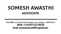 NEW SOMESH AWASTHI BUSINESS CARD TEMPLATE 名片