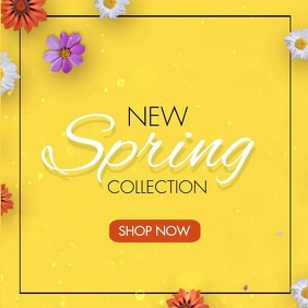 New Spring Collection Instagram Video Ad Cuadrado (1:1) template